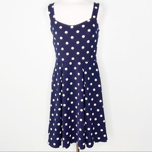 Kaileigh Navy Polka Dot Tank Dress